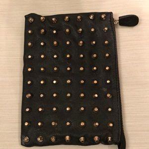 Heavy gold stud purse